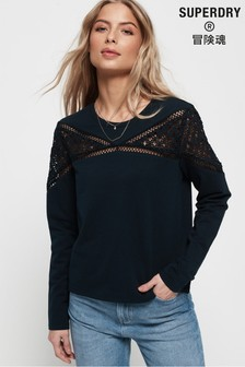 Superdry Zariah Lace Panel Top