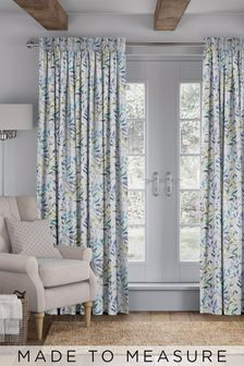 Sky Blue Asara Made To Measure Curtains