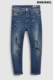 Diesel® Kids Narrot Mid Wash Distressed Slim Fit Jean