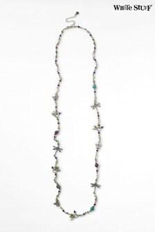 White Stuff Teal Garden Semi Precious Necklace