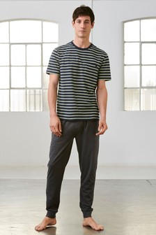 Stripe Jersey Cuffed Set