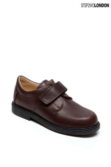 Step2wo Brown Mathew Classic Hook And Loop Velcro Shoes