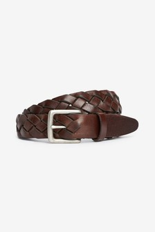Chunky Weave Leather Belt