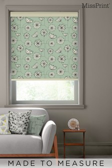 Dandelion Mobile Mist Green Made To Measure Roller Blind by MissPrint