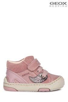 Geox Girls Jayj Pink Velcro Shoes