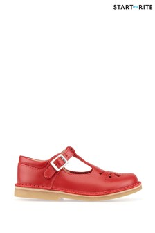 Start-Rite Lottie Red Leather Classic Shoes