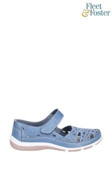 Fleet & Foster Blue Jasmine Touch Fastening Shoes