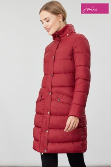 Joules Hartwell Longline Padded Coat With Detachable Hood