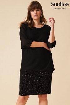 Studio 8 Black Ramona Knitted Dress