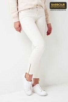 Barbour® International Ecru Skinny Durant Jeans