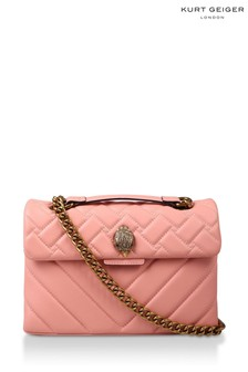 Kurt Geiger London Pink Leather Kensington Leather Bag