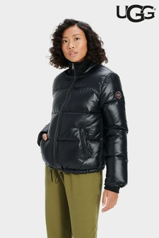 UGG® Black Nylon Izzie Padded Jacket