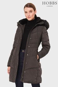 Hobbs Grey Lettie Padded Jacket