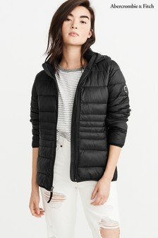 Abercrombie & Fitch Black Lightweight Padded Jacket