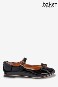Baker by Ted Baker Black Patent Bow Mary Jane Shoes