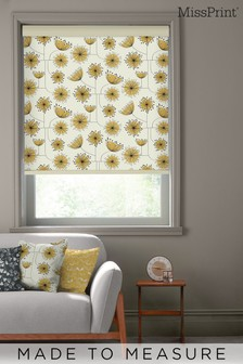 Dandelion Mobile Sunflower Yellow Made To Measure Roller Blind by MissPrint