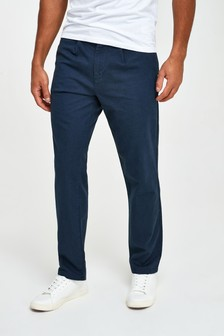 Herringbone Pleated Chinos