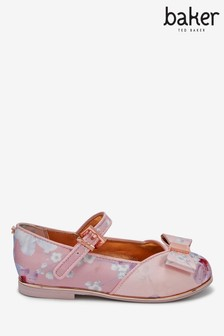 Baker by Ted Baker Satin Floral Bow Mary Jane Shoes