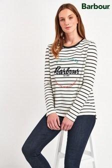 Barbour® Navy/White Stripe Shorewood Logo Top
