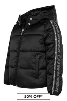 EA7 Girls Black Eco Ardor Jacket