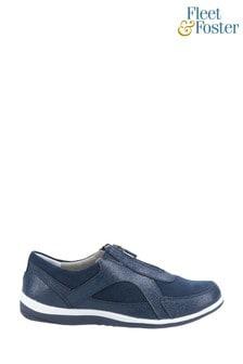 Fleet & Foster Blue Savannah Zip Up Casual Shoes