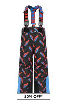 Boys Lightning Print Ski Trousers