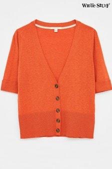 White Stuff Orange Lilly V-Neck Cardigan