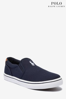 Ralph Lauren Navy Thompson Slip On Pumps