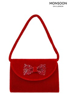 Monsoon Children Red Maia Velvet Mini Bag