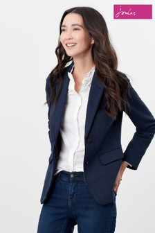 Joules Blue Agatha Single Breasted Blazer