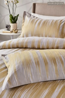Harlequin Motion Gold Ikat Cotton Pillowcase