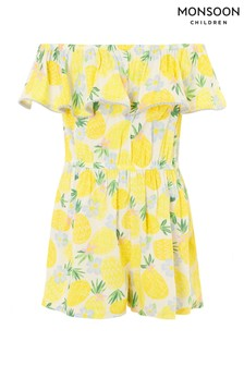Monsoon Pineapple Culotte Playsuit In Lenzing™ EcoVero™