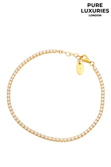Pure Luxuries London Lotte Yellow Gold Plated Sterling Silver Bracelet