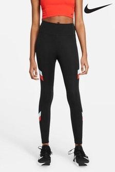 Nike One 7/8 Colourblock Stripe Leggings