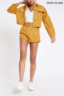 River Island Ochre Denim Jacket