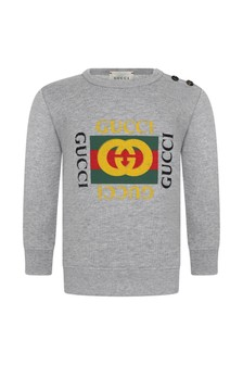 GUCCI Kids Grey Baby Sweater