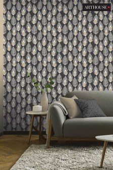 Arthouse Glam Feather Wallpaper
