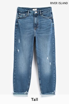 River Island Authentic Denim Mid Rise Carrie Mom Jeans
