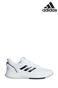 adidas Train White/Black Courtsmash Trainers