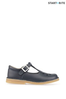 Start-Rite Lottie Navy Leather Classic Shoes