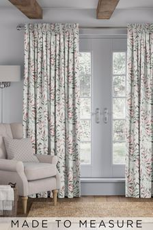 Asara Rose Green Made To Measure Curtains