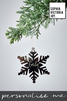 Personalised Snowflake Decoration by Sophia Victoria Joy