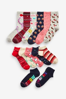 Christmas Advent Calendar Socks Twelve Pack