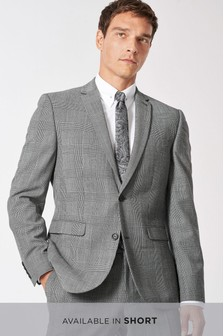 Slim Fit Check Wool Blend Suit