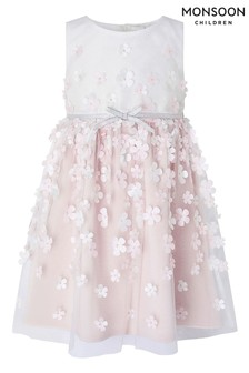 Monsoon Cream Baby Kerry Blossom 3D Dress