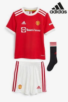 adidas Manchester United 21/22 Home Mini Kit