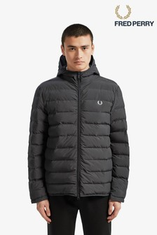 Fred Perry Black Insulated Hooded Jacket