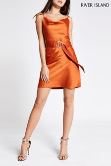 River Island Rust Slip Dress