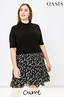 Oasis Black Curve 2-In-1 Dress