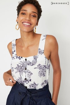 Warehouse Natural Aloha Square Cami Top